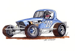 Cal Maule | Race Car Drawings